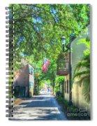 Patriotic Street Spiral Notebook
