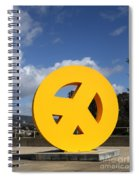 Peace From The Oakland Museum . Oakland California . 7d13411 Spiral Notebook