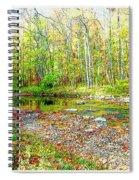 Pennsylvania Stream In Autumn, Digital Art Spiral Notebook