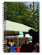People At Food Event Spiral Notebook
