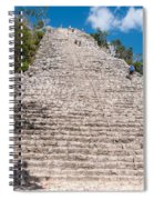 People Climbing Nohoch Mul At The Coba Ruins  Spiral Notebook