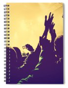 People With Hands Up In Night Club Spiral Notebook