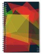 Pepper Polygon Pattern Spiral Notebook