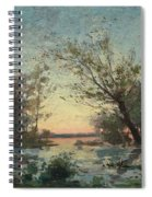 Per Ekstrom, French Landscape In Sunset. Spiral Notebook
