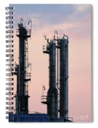 Petrochemical Plant Industry Zone Twilight Spiral Notebook