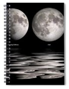 Phases Of The Moon Spiral Notebook