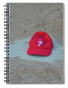 Phillies Hat On Home Plate Spiral Notebook