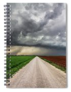 Pick A Side - Colorful Fields Divided By Road On Stormy Day In Oklahoma. Spiral Notebook