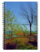 Picnic Table By The Lake Spiral Notebook