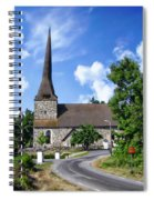 Picturesque Rural Church Spiral Notebook