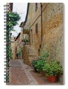 Pienza Street Spiral Notebook