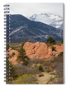 Pikes Peak From Red Rocks Canyon Spiral Notebook
