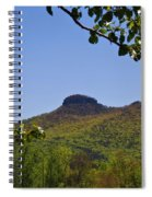 Pilot Mountain In Spring Green Spiral Notebook