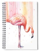 Pink Flamingo - Facing Right Spiral Notebook