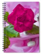 Pink Rose 5 Spiral Notebook