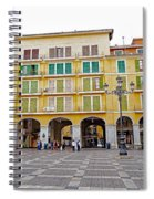 Placa Mayor In Palma Majorca Spain Spiral Notebook