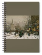 Place De La Republique In Winter Spiral Notebook