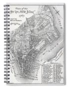 Plan Of The City Of New York Spiral Notebook