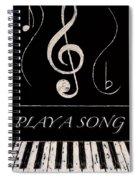 Play A Song Spiral Notebook