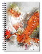 Pokemon Fearow Abstract Portrait - By Diana Van   Spiral Notebook