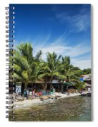 Polluted Dirty Beach With Garbage Rubbish In Koh Rong Island Cam Spiral Notebook