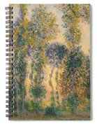 Poplars At Giverny, Sunrise Spiral Notebook