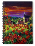 Poppies In Foy Spiral Notebook