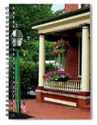 Porch With Hanging Plants Spiral Notebook