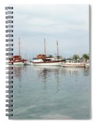 Port With Sailboat And Fishing Boat Spiral Notebook
