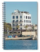 Portixol Marina Moored Boats Spiral Notebook