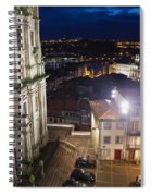 Porto By Night In Portugal Spiral Notebook