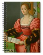 Portrait Of A Woman With A Book Of Music Spiral Notebook