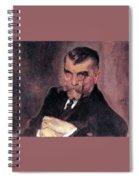 Portrait Of Aa Stahovich 1911 Valentin Serov Spiral Notebook