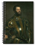 Portrait Of Alfonso D'avalos Marquis Of Vasto In Armor With A Page Spiral Notebook