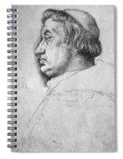Portrait Of Cardinal Albrecht Of Brandenburg  Spiral Notebook