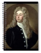Portrait Of Francis 2nd Earl Of Godolphin 1678-1766 Sir Godfrey Kneller Spiral Notebook