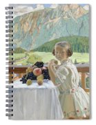 Portrait Of Irina Kustodieva Spiral Notebook