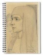 Portrait Of Treesje Westermann, Mother Teresa Huf Of Bethany, Jan Toorop, 1927 Spiral Notebook