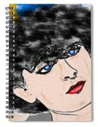 Portrait With Adonit Pixel. Spiral Notebook