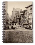 Powell Street Hill - San Francisco 1945 Spiral Notebook