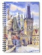 Prague Charles Bridge Spiral Notebook
