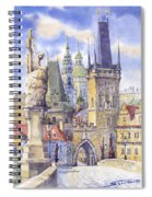 Prague Charles Bridge Spiral Notebook