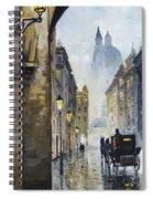 Prague Old Street 01 Spiral Notebook