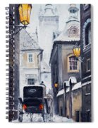 Prague Old Street 02 Spiral Notebook