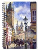 Prague Old Town Square 01 Spiral Notebook