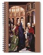 Presentation Of Christ Wga Rogier Van Der Weyden Spiral Notebook