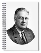 President Franklin Roosevelt Graphic  Spiral Notebook
