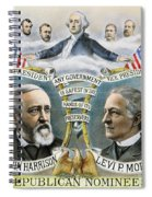 Presidential Campaign, 1888 Spiral Notebook
