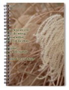 Psalm 37 Spiral Notebook