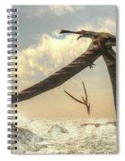 Pteranodon Birds Flying - 3d Render Spiral Notebook
